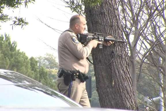 Police and Marin County sheriff's deputies responded to a robbery at the Village at Corte Madera mall Tuesday morning.