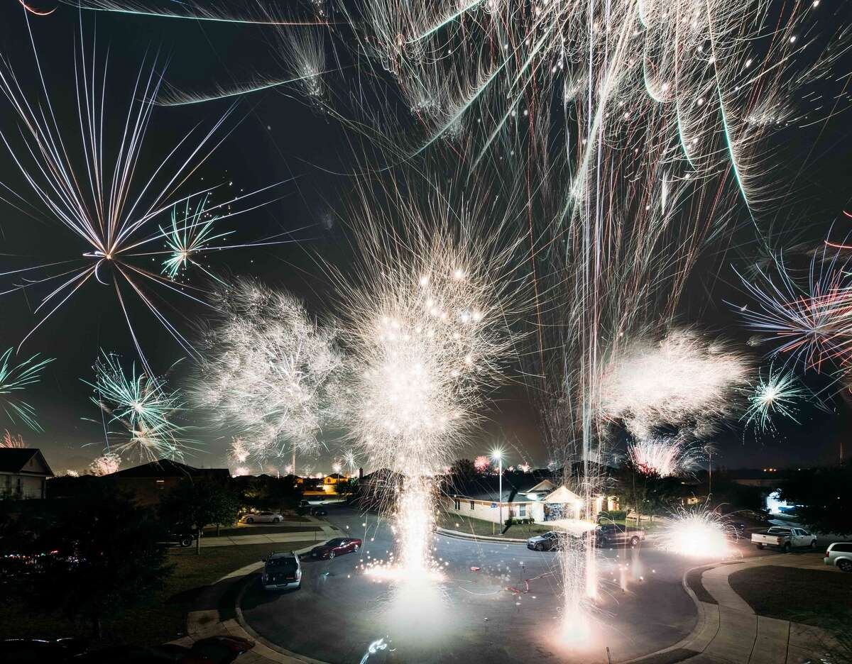 Adrian Garcia, a local photographer, was the man behind the lens and the firework show that made for the eye-popping photo.