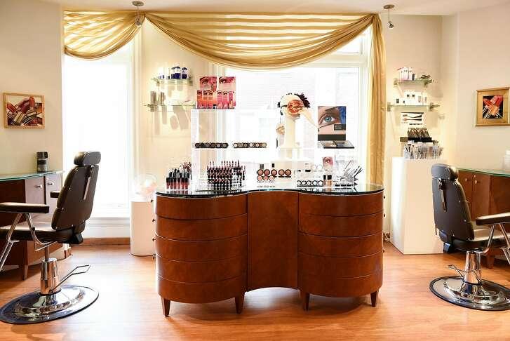 The makeup room at Joseph Cozza Salon in San Francisco, CA, on Thursday November 2, 2017.