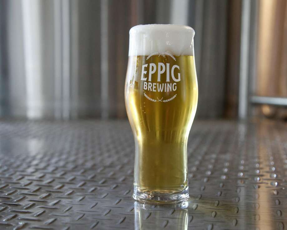 A glass of pilsner at Eppig Brewing, said to be one of the best versions of the pilsner style in San Diego. Photo: Eppig Brewing