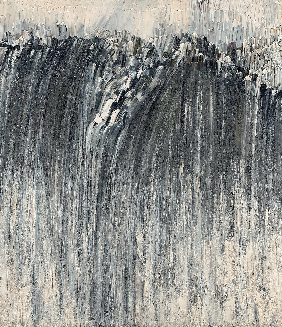 A work by Jay DeFeo, shown at Jim Newman's groundbreaking Dilexi Gallery