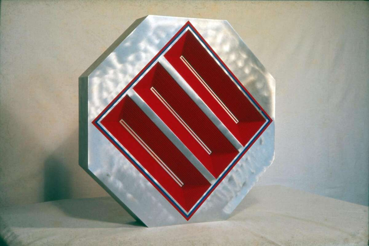 A sculpture by Tony DeLap, exhibited at Jim Newman's Dilexi Gallery in the 1960s