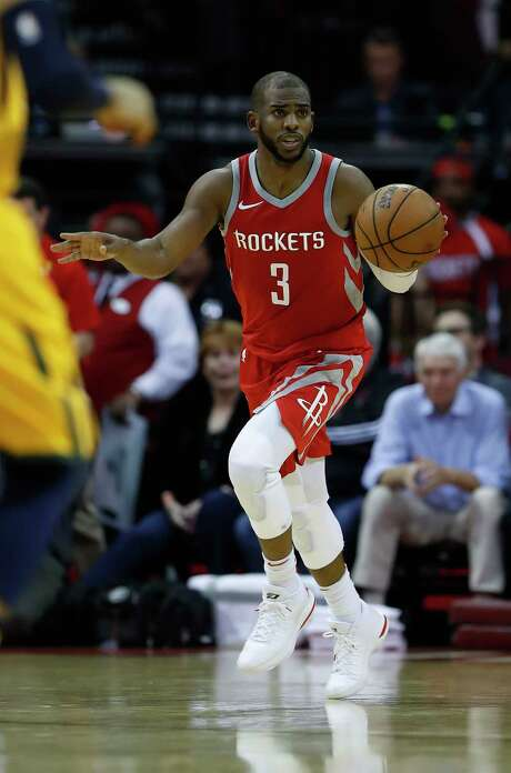 Chris Paul, who's had injuries of his own, has played with James Harden in only 18 of the Rockets' 35 games. Photo: Karen Warren, Staff / © 2017 Houston Chronicle