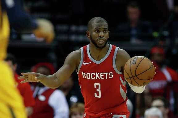 Chris Paul, who's had injuries of his own, has played with James Harden in only 18 of the Rockets' 35 games.