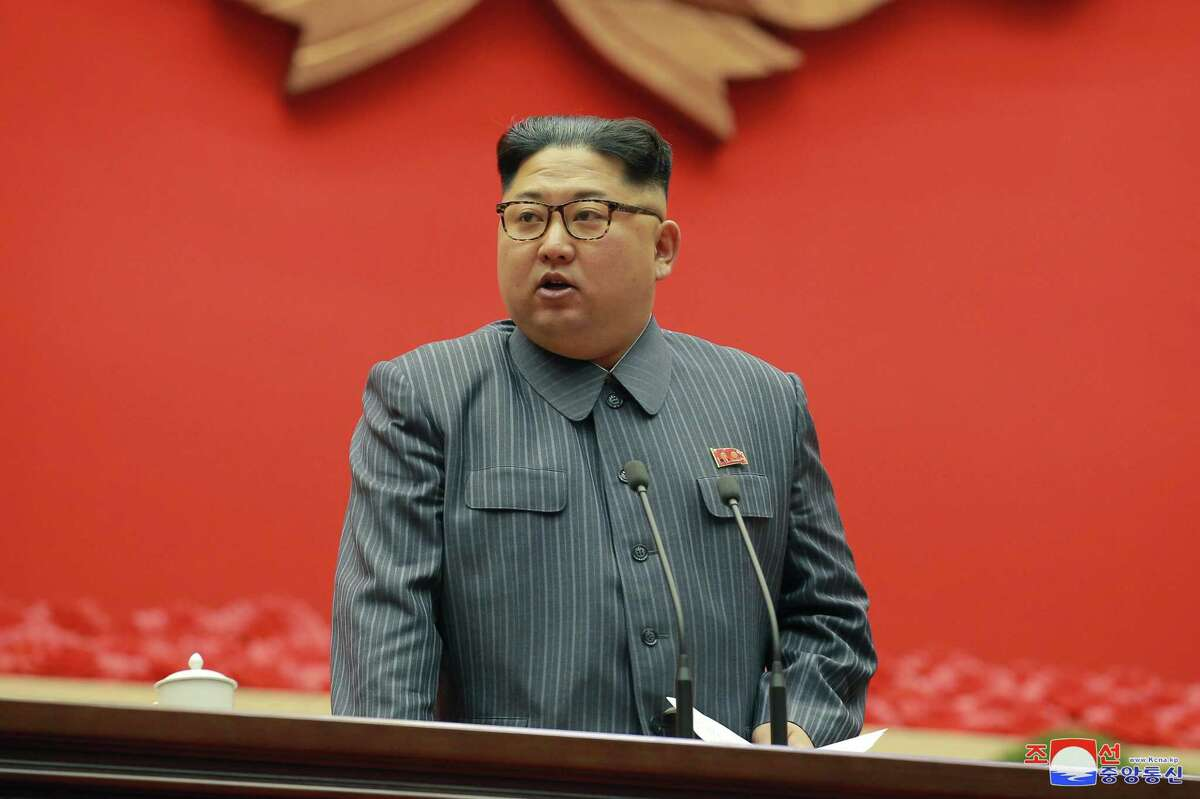 North Korean leader Kim Jong Un speaks during the conference of cell chairpersons of the ruling party in Pyongyang. North Korea on Dec. 24. If one were to make analogies, he certainly fits the role of dictator but there may be no one Churchill in the U.S. to decide how much to mollify such a leader.