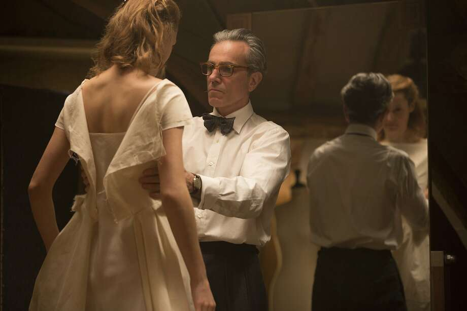 """In this image released by Focus Features, Vicky Krieps, left, and Daniel Day-Lewis appear in a scene from """"Phantom Thread."""" (Laurie Sparham/Focus Features via AP) Photo: Laurie Sparham, Associated Press"""