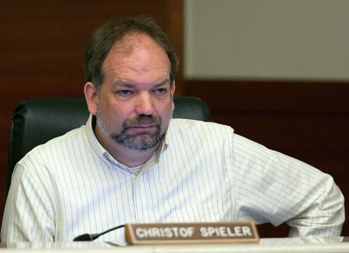 Metropolitan Transit Authority board member Christof Spieler during the board's monthly meeting on Jan. 25.