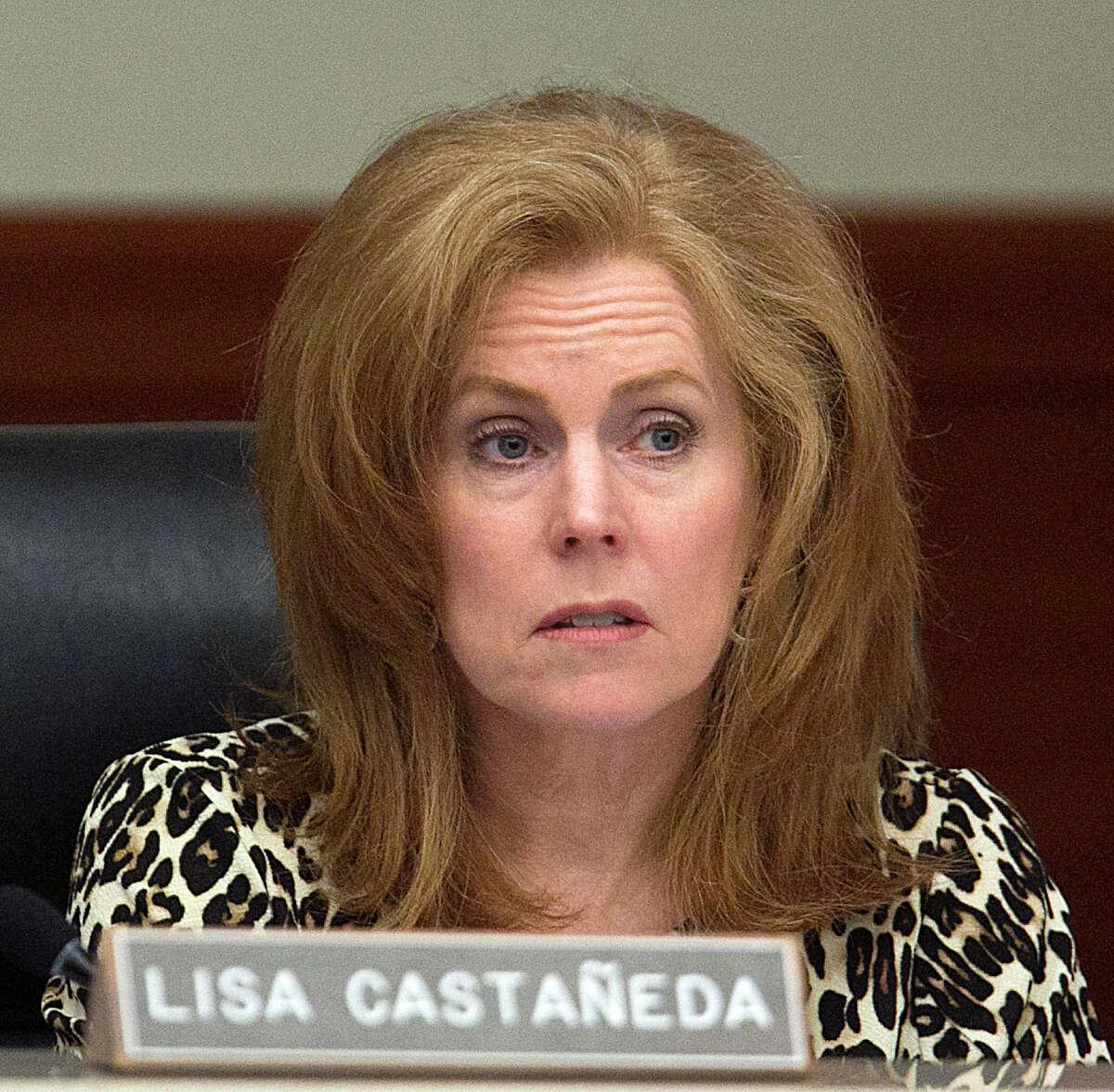 Metropolitan Transit Authority board member Lisa Castaneda during the board's monthly meeting on Jan. 25.
