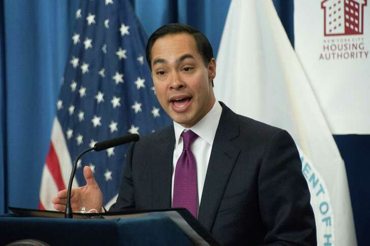 Former U.S. Department of Housing and Development Secretary Julian Castro speaks during an Internet service for public housing launch on Dec. 16, 2016 in the Bronx, New York City, N.Y. (M. Stan Reaves/Rex Shutterstock/Zuma Press/TNS)