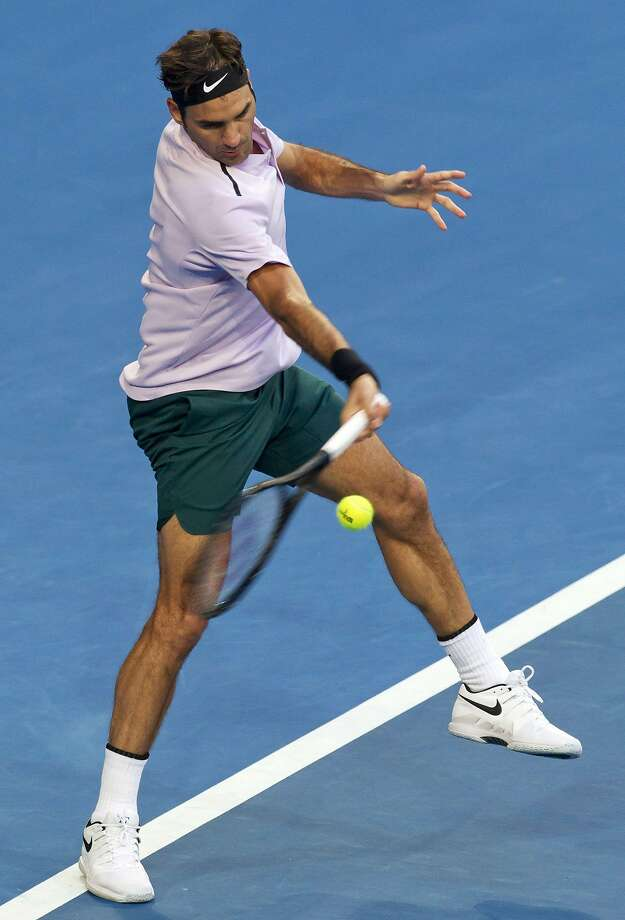 Roger Federer was tested by Karen Khachanov, but won in straight sets. Photo: TONY ASHBY, AFP/Getty Images