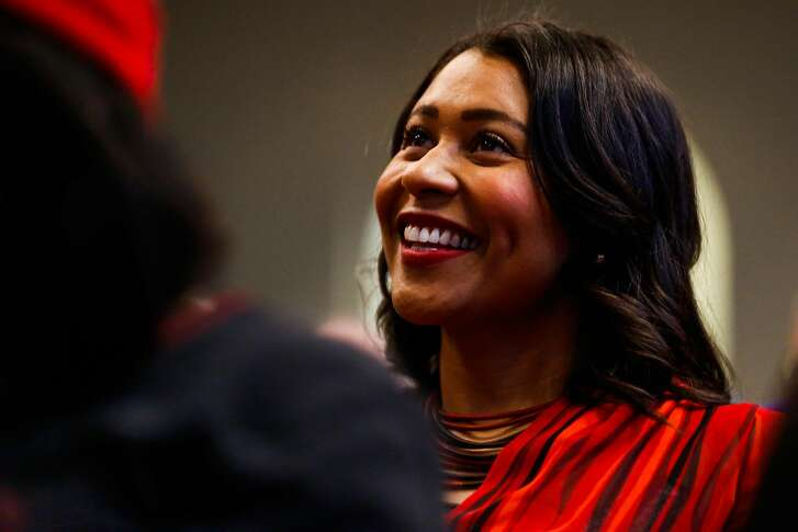 Acting Mayor London Breed listens during Glide Memorial Church's Christmas Eve morning service in San Francisco, Calif., on Sunday, Dec. 24, 2017.