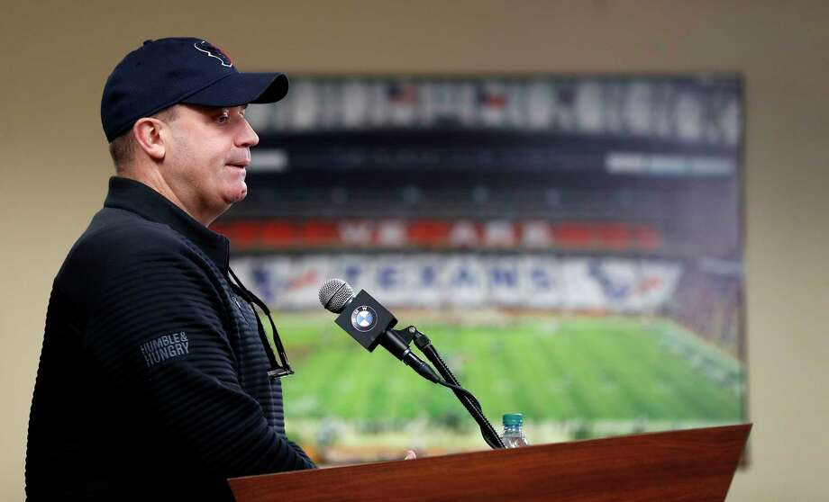 Houston Texans head coach Bill O'Brien speaks to the media at NRG Stadium, Tuesday, Jan. 2, 2018, in Houston.   ( Karen Warren / Houston Chronicle ) Photo: Karen Warren, Staff / © 2018 Houston Chronicle