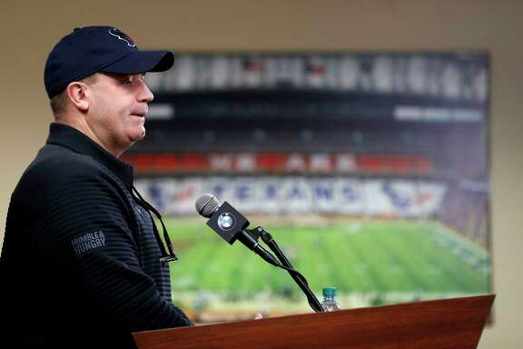 Houston Texans head coach Bill O'Brien speaks to the media at NRG Stadium, Tuesday, Jan. 2, 2018, in Houston.   ( Karen Warren / Houston Chronicle )