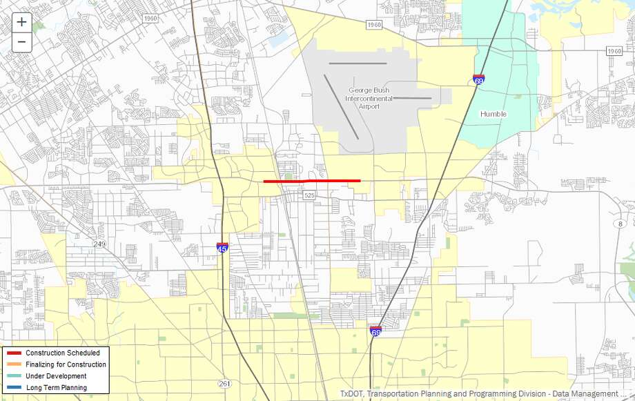 Widening a stretch of Beltway 8Description: Add auxiliary lanes and widen bridges of Beltway 8 from I-45 to U.S. 59 NorthWhere:I-10, downtown HoustonEstimated cost:$26 millionEstimated completion:April 2018 Photo: Trans88