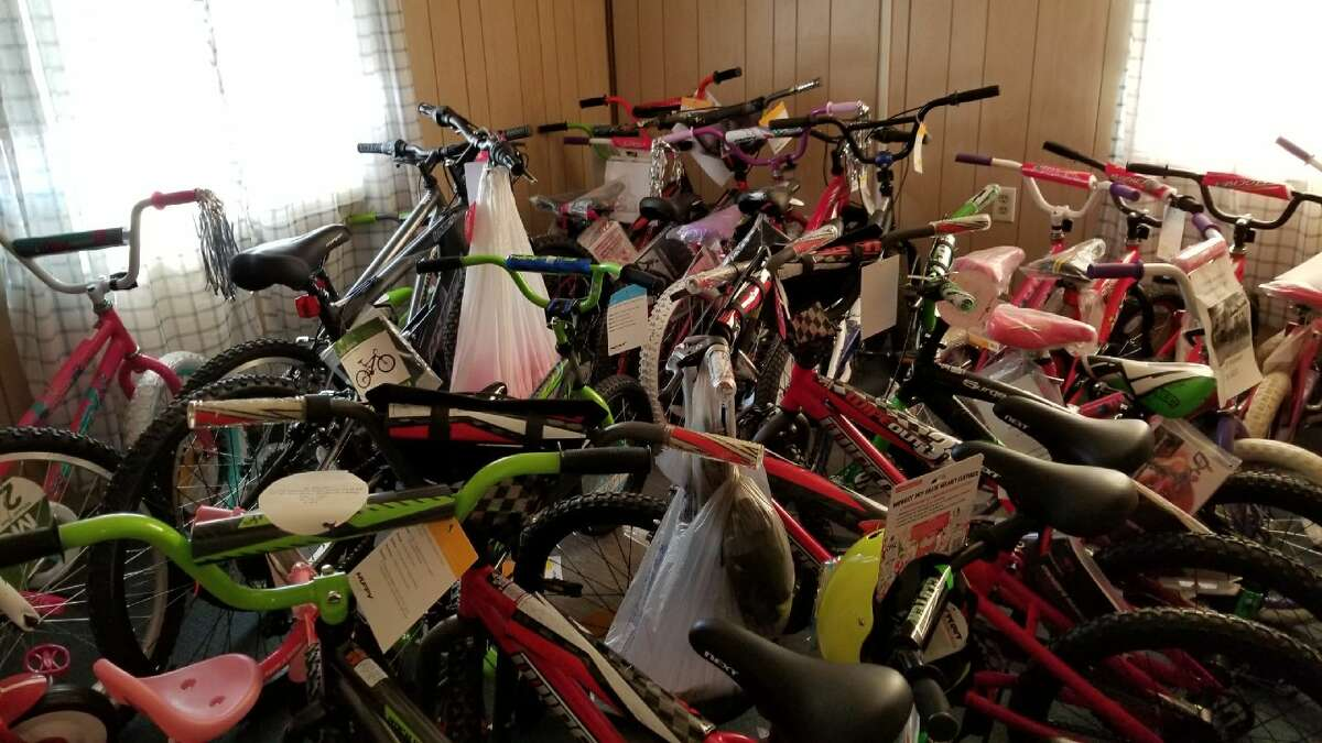 More than 75 bikes were contributed by area businesses and churches for The Salvation Army's various holiday-based campaigns.