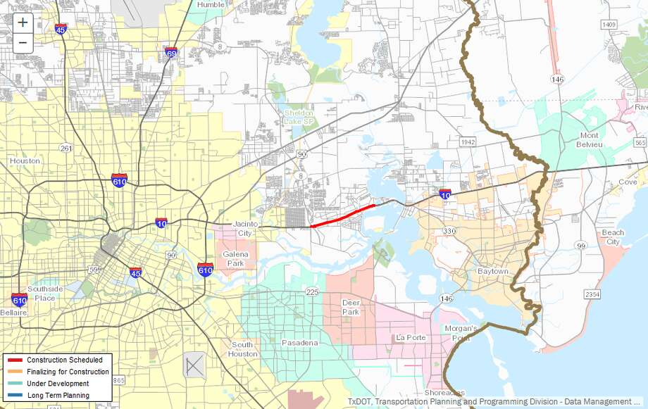 Widening a stretch of Beltway 8Description:Repair/maintenanceof I-10 from Beltway8 to Magnolia St.Where: East Houston, near ChannelviewEstimated cost:$8.3 millionEstimated completion:May 2018 Photo: Transpo10