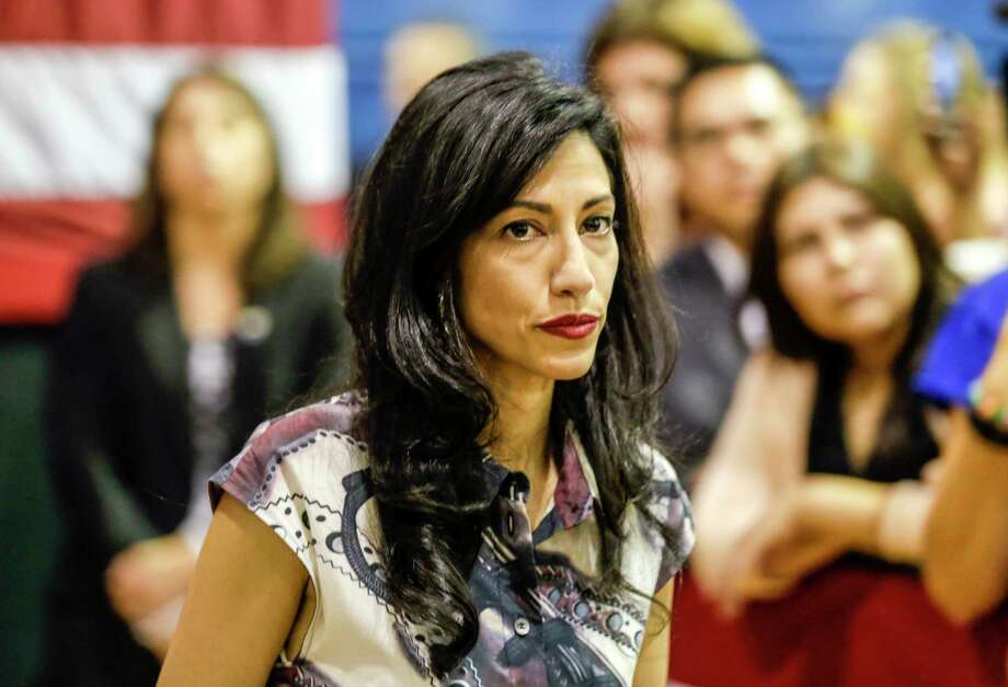 Huma Abedin, an aide to Democratic presidential candidate Hillary Clinton, at a Women for Hillary event at West Los Angeles College on Friday, June 3, 2016, in Culver City, Calif. (Irfan Khan/Los Angeles Times/TNS) Photo: Irfan Khan, MBR / Los Angeles Times
