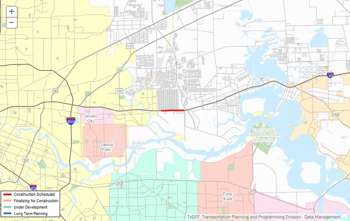 Repair/maintenance of 1-10 Description:Repair/maintenance of I-10 from Freeport St. to Beltway 8 Where: I-10, east Houston Estimated cost:$3.9 million Estimated completion:May 2018