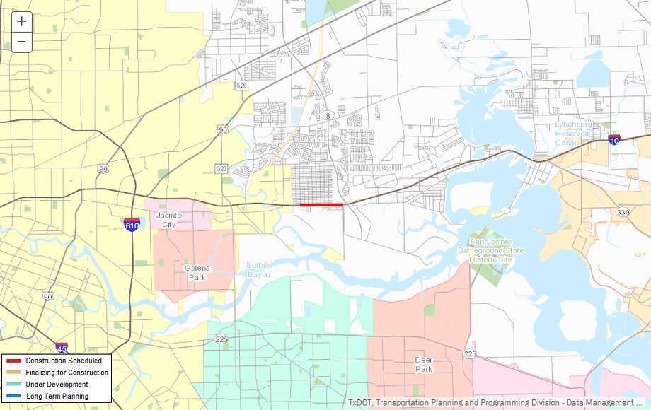Repair/maintenance of 1-10Description:Repair/maintenance of I-10 from Freeport St. to Beltway 8Where: I-10, east HoustonEstimated cost:$3.9 millionEstimated completion:May 2018 Photo: Repairsz
