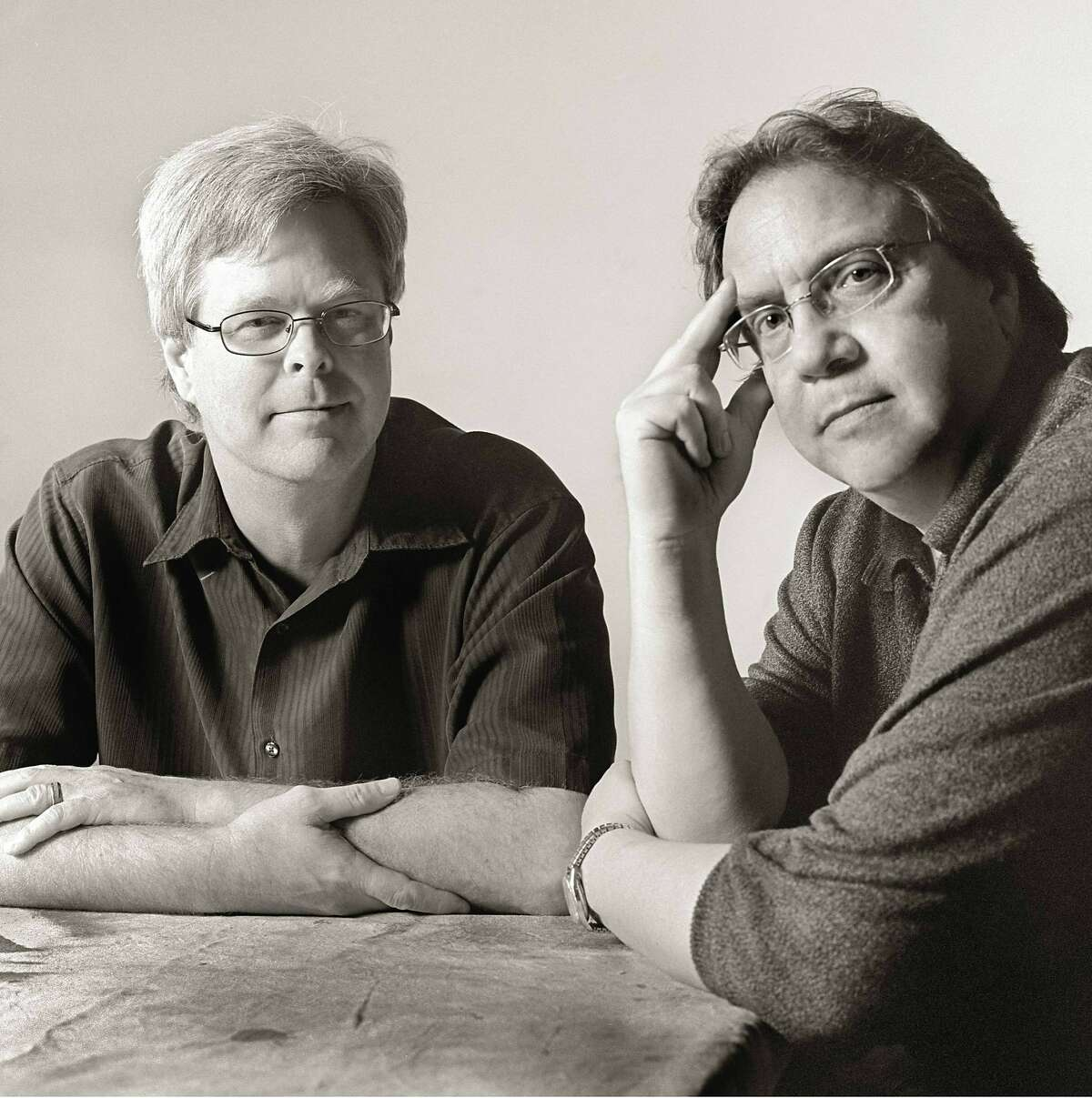 Steven L. Davis (left) and�Bill Minutaglio