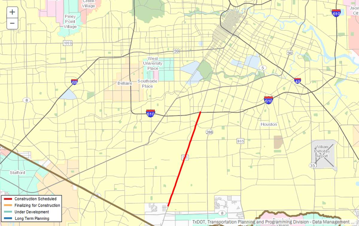 Repair/maintenance of 521 Description:Repair/maintenance of FM 521 from 610 to south of Broadhurst Where: FM 521, south Houston Estimated cost:$3 million Estimated completion:April 2018