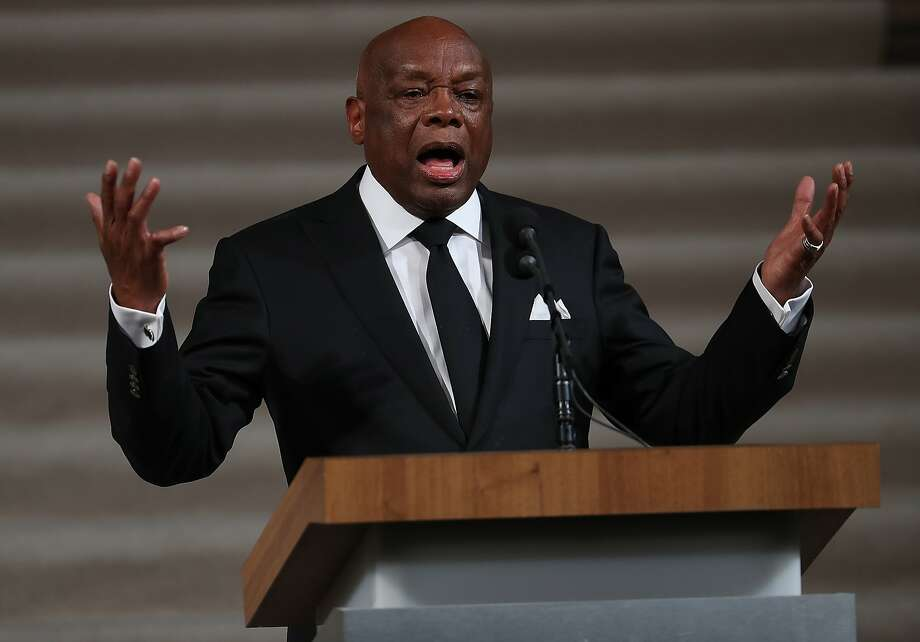 Former San Francisco Mayor Willie Brown speaks during a service celebrating the late Mayor Ed Lee's life on Dec. 17 at City Hall. Photo: Justin Sullivan, Getty Images