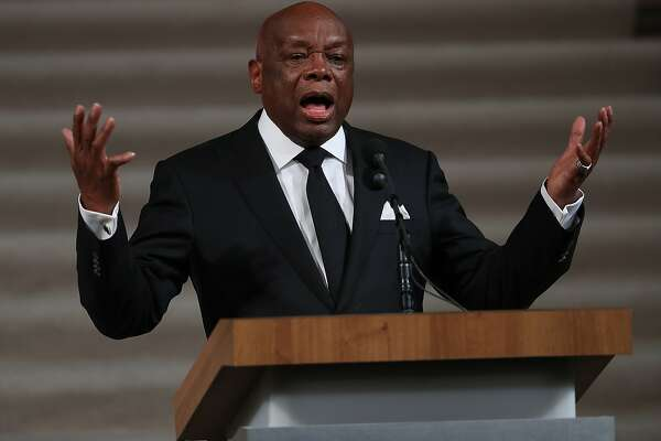 SAN FRANCISCO, CA - DECEMBER 17: Former San Francisco mayor Willie Brown speaks during a Celebration of Life Service held for the late San Francisco Mayor Ed Lee on December 17, 2017 in San Francisco, California. Hundreds of people attended the service for Lee, who died unexpectedly early Tuesday morning after suffering a heart attack. (Photo by Justin Sullivan/Getty Images)