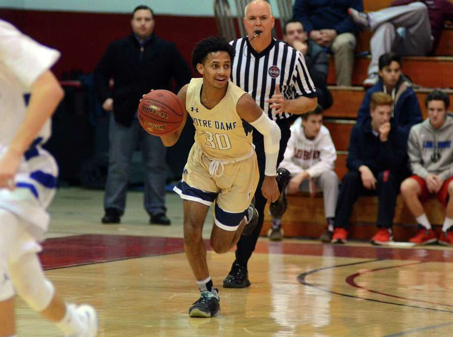 Fairfield Prep Holiday Classic basketball action between Notre Dame of Fairfield and Fairfield Ludlowe in Fairfield, Conn., on Wednesday Dec. 27, 2017. Photo: Christian Abraham / Hearst Connecticut Media / http://connpost.com/