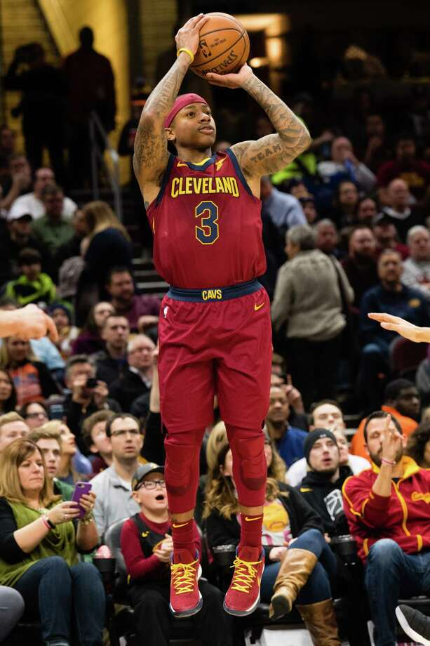 CLEVELAND, OH - JANUARY 2: Isaiah Thomas #3 of the Cleveland Cavaliers shoots during the first half against the Portland Trail Blazers at Quicken Loans Arena on January 2, 2018 in Cleveland, Ohio. NOTE TO USER: User expressly acknowledges and agrees that, by downloading and or using this photograph, User is consenting to the terms and conditions of the Getty Images License Agreement. (Photo by Jason Miller/Getty Images) Photo: Jason Miller / 2018 Getty Images