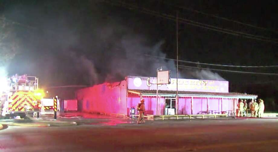 After more than 30 years of business, the C&D Grocery and Bakery is in ruins after an overnight fire. Photo: Metro Video
