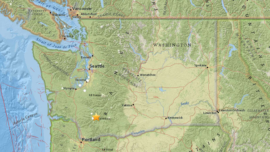 A star shows the epicenter of the earthquakes. Photo: USGS