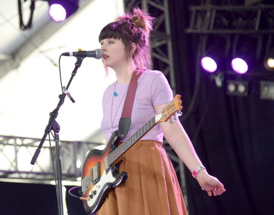 INDIO, CA - APRIL 11:  Musician Katie Crutchfield of Waxahatchee performs onstage during day 1 of the 2014 Coachella Valley Music & Arts Festival at the Empire Polo Club on April 11, 2014 in Indio, California.  (Photo by Jason Kempin/Getty Images for Coachella) Photo: Jason Kempin, Staff / 2014 Getty Images