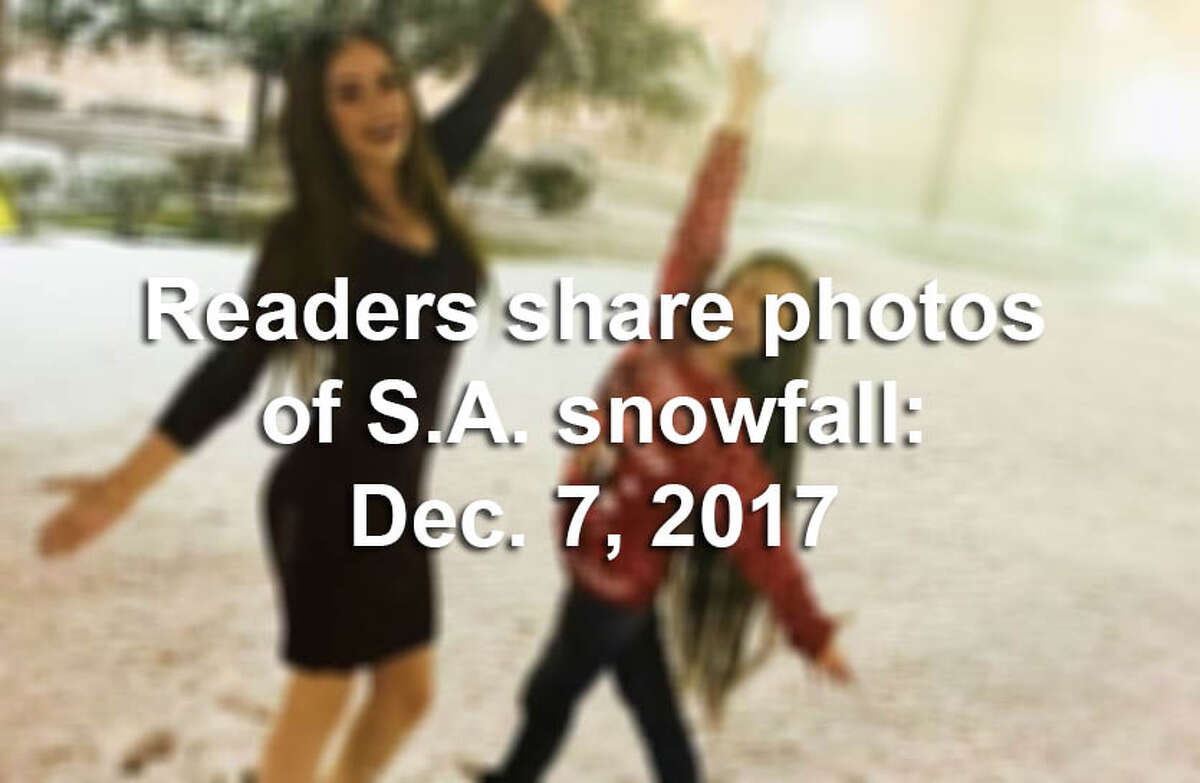 Readers shared their photos of snow around San Antonio and South, Central Texas on Dec. 7, 2017.
