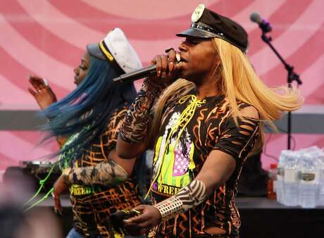 Big Freedia and Brenda's Soul Food perform on the Gastro Magic stage during day two of the Outside Lands Music Festival in Golden Gate Park in San Francisco, California, on Sat. Aug. 6, 2016.