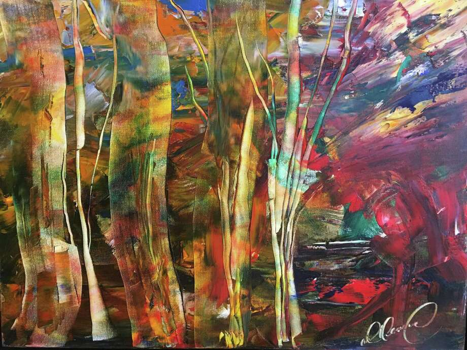 "Diane Desmond's ""Light in the Trees"" is one of 65 paintings showcased in the multi-artist exhibition, ""Fairfield County Arts Association Winter Collection"" at Wilton Library until Jan. 25, 2017. Photo: Contributed Photo"