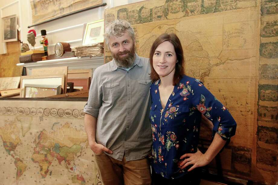 Michal and Lindsay Peichl of Clear Lake own the Paper Restoration Studio where they restore antique documents and do consulting. Michal helped determine that an artifact set to go up for bidding at Christie's auction house was a fraud. Photo: Pin Lim, Freelance / Copyright Forest Photography, 2018