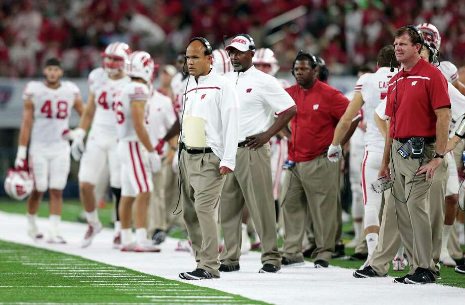 Dave Aranda, who coached at Wisconsin before his current stint at LSU, is close to be coming the defensive coordinator at Texas A&M. Photo: M.P. King, Associated Press / Wisconsin State Journal
