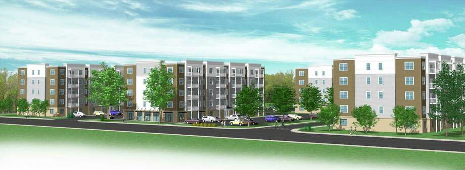Colonie-based Dawn Homes Management is proposing a multifamily apartment complex on Sandidge Way, off of Fuller Road. Developers plan to build seven, five-story buildings that would offer 252 apartment units, a fitness room, garage parking as well as surface parking. Photo: Photo Courtesy Of Dawn Homes Management