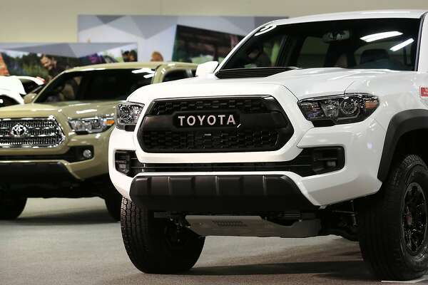 Toyota Tacomas at the San Antonio Auto and Truck Show at the Henry B. Gonzalez Convention Center, on Thursday, Nov. 9, 2017.