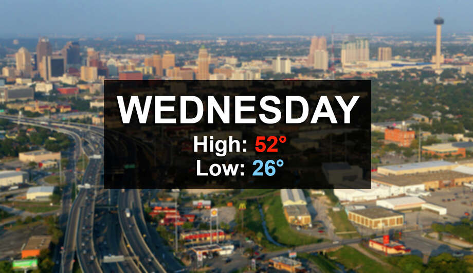 Wednesday, Jan. 3, 2018: Sunny, with a high near 52. At night, clear with a low around 26.Source: National Weather Service Photo: John Davenport/San Antonio Express-News