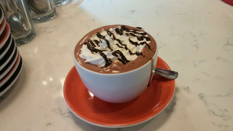 Hot chocolate at Cafe Dolce. Photo: Frank Whitman / For Hearst Connecticut Media