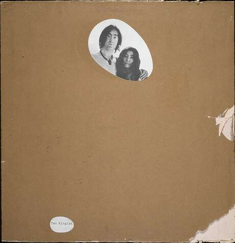 """A censored version of the nude cover photo on the album """"Two Virgins"""" by John Lennon and Yoko Ono. Photo: Blank Archives"""