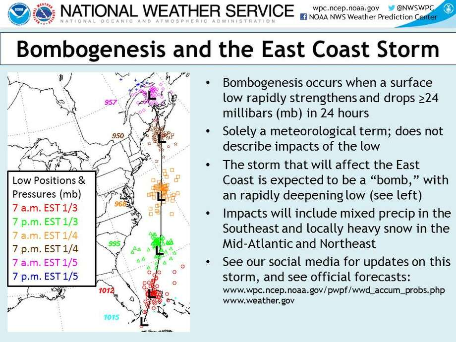 A massive storm is set to East Coast this week. Photo: Courtesy National Weather Service