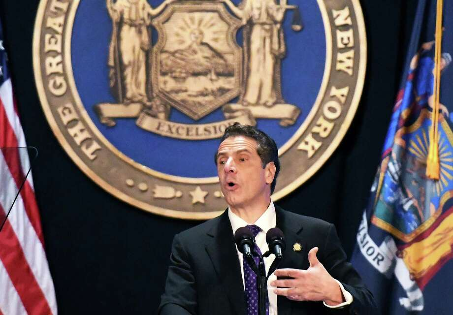 Gov. Andrew Cuomo delivers his 2018 State of the State Address at the Empire State Plaza Convention Center Tuesday Jan. 3, 2018 in Albany, NY.  (John Carl D'Annibale / Times Union) Photo: John Carl D'Annibale, Albany Times Union / 20042389A
