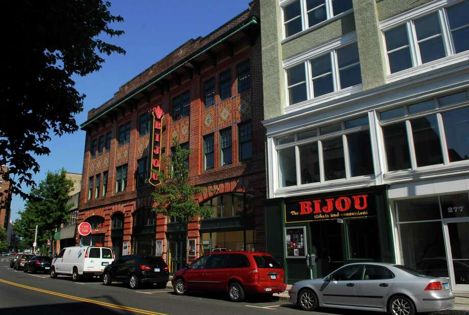 A view of the Bijou Theater on Fairfield Avenue in Bridgeport, Conn. on Friday July 29, 2016. Developer Phil Kuchma, who is behind the Bijou Square development, said smaller tenants are key to filling the city's available office space. Photo: Christian Abraham / Hearst Connecticut Media / Connecticut Post