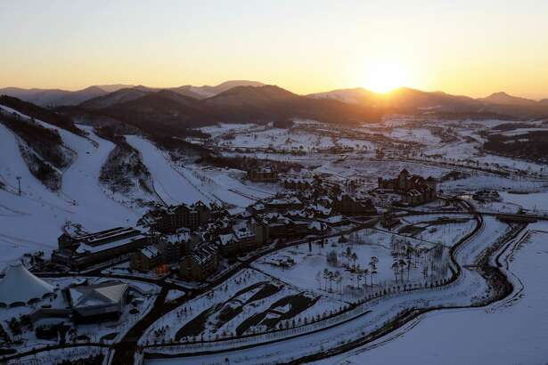 The general view of Alpensia Resort Park, venue for MPC and IBC ahead of PyeongChang 2018 Winter Olympic Games on February 2, 2017 in Pyeongchang-gun, South Korea.