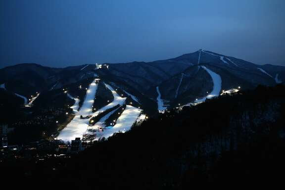 A general view of the Yongpyong Alpine Centre in the Pyeongchang Mountain Cluster.