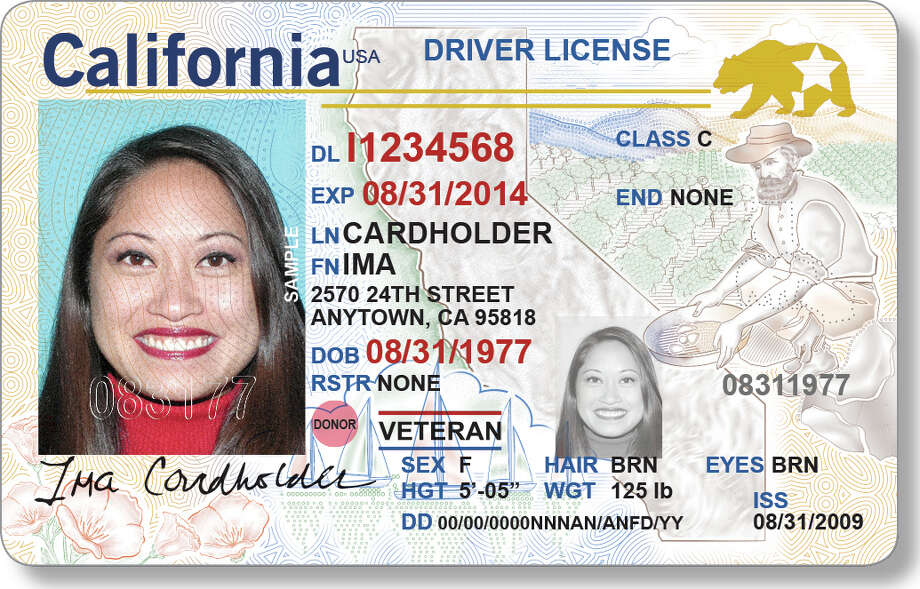New California Driver License starting Jan 22, 2018 Photo: California DMV