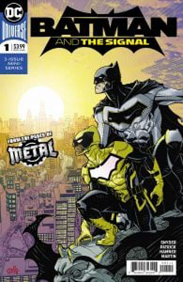 """Batman and The Signal"" No. 1 cover illustrated by Cully Hamner and colored by Laura Martin. Photo: DC Entertainment. / The Washington Post"