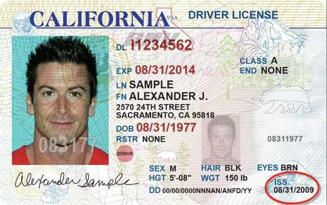 Current, soon to be dated  California drivers license Photo: California DMV